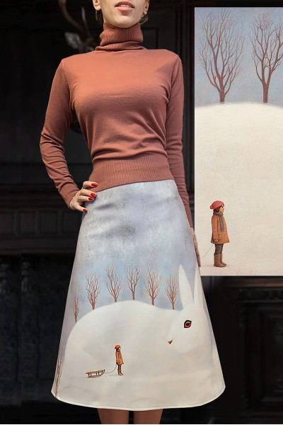 Юбка Лада (Белый заяц)
